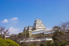 Castelo de Himeji durante o tempo da flor de cerejeira Fotos de Stock