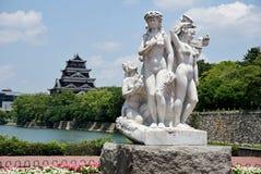 Castelo de Hiroshima em Hiroshima, Japão Foto de Stock