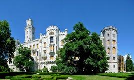 Castelo de Hluboka Imagens de Stock Royalty Free