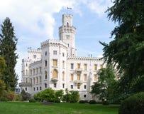 Castelo de Hluboka Fotos de Stock Royalty Free