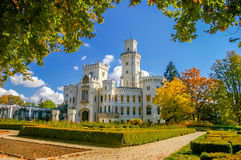 Castelo de Hluboka em República Checa Imagem de Stock