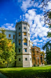 Castelo de Hluboka na república checa Fotos de Stock