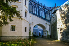 Castelo de Hluboka na república checa Foto de Stock