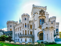 Castelo de Hluboka na república checa Foto de Stock Royalty Free