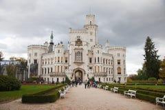 Castelo de Hluboka nad Vltavou Imagens de Stock Royalty Free