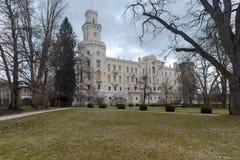 Castelo de Hluboka nad Vltavou. República Checa Fotos de Stock Royalty Free