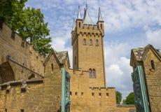 Castelo de Hohenzollern do Burg, cume Swabian, Alemanha, fotos de stock