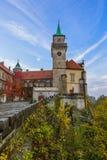 Castelo de Hruba Skala no paraíso de Boêmia - república checa Fotos de Stock Royalty Free