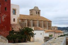 Castelo de Ibiza, Espanha durante a mola fotos de stock royalty free
