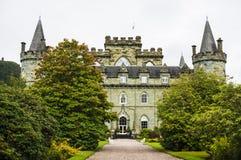Castelo de Inveraray, Inveraray, Argyle, Escócia 28 de agosto de 2015 Imagens de Stock Royalty Free