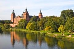 Castelo de Johannisburg em Aschaffenburg, Alemanha Foto de Stock Royalty Free