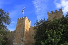 castelo de jorge sao royaltyfri bild