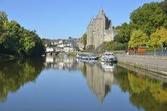 Castelo de Josselin em França foto de stock