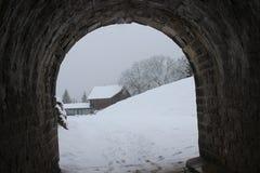 Castelo de joux em França Fotos de Stock Royalty Free