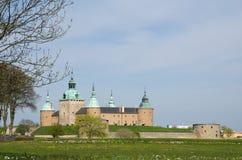 Castelo de Kalmar na primavera Imagem de Stock