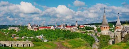 Castelo de Kamenets-Podolsky, Ucrânia Fotos de Stock