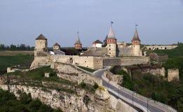 Castelo de Kamianets-Podilskyi, Ucrânia imagem de stock