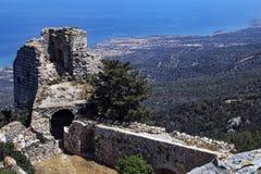 Castelo de Kantara - república turca de Chipre do norte Fotos de Stock