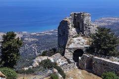 Castelo de Kantara - república turca de Chipre do norte Imagem de Stock