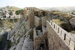 Castelo de Karak em Jordânia fotos de stock