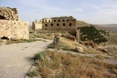 Castelo de Karak em Jordânia foto de stock