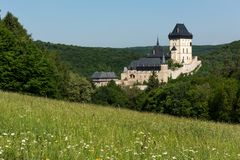 Castelo de Karlstejn Fotos de Stock Royalty Free
