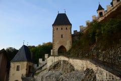 Castelo de Karlstejn, CZ, UE Imagem de Stock