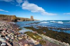 Castelo de Keiss em Escócia imagem de stock