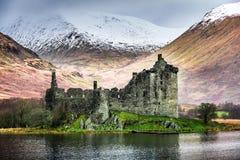 Castelo de Kilchurn no inverno Fotografia de Stock