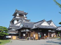 Castelo de Kochi na prefeitura de Kochi, Japão Imagens de Stock Royalty Free