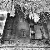 Castelo de Kornik Olhar artístico em preto e branco fotos de stock royalty free