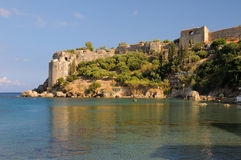 Castelo de Koroni em Messinia, Greece Fotografia de Stock