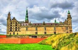Castelo de Kronborg, conhecido como Elsinore na tragédia de Hamlet - Dinamarca imagem de stock royalty free