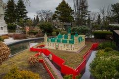 Castelo de Kronborg feito de Lego imagens de stock royalty free
