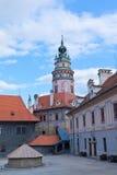 Castelo de Krumlov, República Checa. imagem de stock