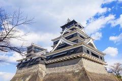 Castelo de Kumamoto em Japão Fotografia de Stock Royalty Free