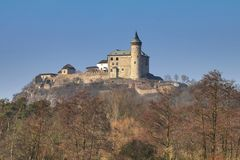Castelo de Kuneticka Hora na república checa Fotos de Stock Royalty Free
