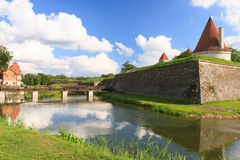 Castelo de Kuressaare, Saarema, Estônia Fotos de Stock