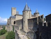 Castelo de la Cité de Carcassonne (France) Fotografia de Stock Royalty Free