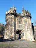 Castelo de Lancaster, um castelo medieval em Lancaster no condado inglês de Lancashire imagens de stock