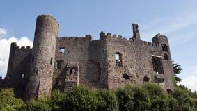 Castelo de Laugharne em Wales sul Imagens de Stock