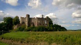 Castelo de Laugharne, Laugharne, Carmarthenshire, Gales do Sul, Reino Unido Imagem de Stock