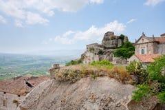 Castelo de Lauria em Castiglione di Sicilia Fotografia de Stock