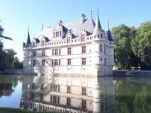 Castelo de le azay rideau fotografia de stock royalty free