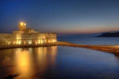 Castelo de Le Castella, Crotone, Italy foto de stock