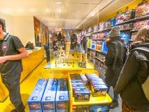 Castelo de Lego Store Harry Potter Hogwarts fotos de stock