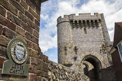 Castelo de Lewes em Sussex do leste Foto de Stock