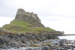 Castelo de Lindisfarne Imagem de Stock