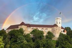 Castelo de Ljubljana, slovenia, Europa Imagem de Stock Royalty Free