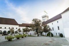 Castelo de Ljubljana, slovenia, Europa Fotos de Stock Royalty Free